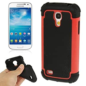 2-color Series Plastic + Silicon Combination Case for Samsung Galaxy S IV mini / i9190 (Red)