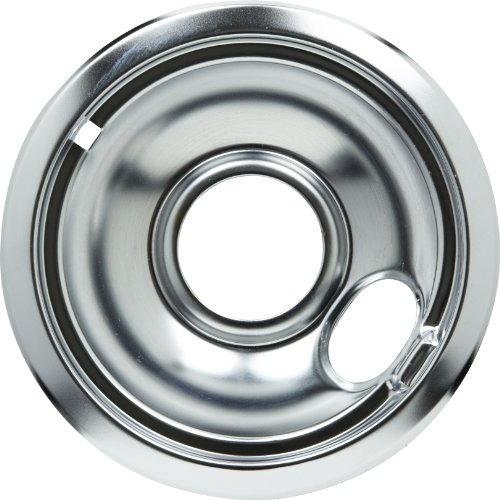 Whirlpool W10196406 6-Inch Drip Bowl, Chrome front-12028