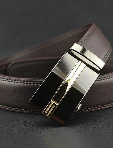 YY-Brown-de-mode-de-cuir-vritable-des-hommes-de-boucle-de-ceinture-automatique