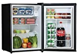 2.8 cu.ft. Refrigerator Color: Black