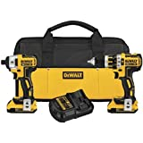 DEWALT DCK286D2 20V Max XR Lithium Ion Brushless Compact Hammerdrill and Impact Driver Combo Kit