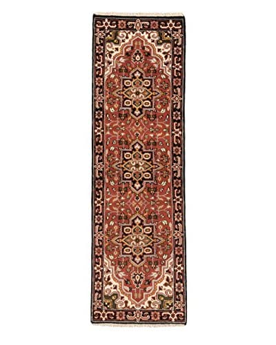 Hand-Knotted Royal Heriz Wool Rug, Copper, 2' 6 x 8' 1  Runner