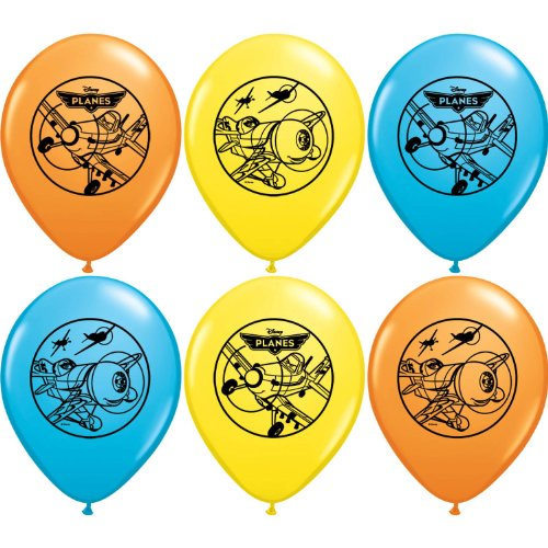 "Pioneer National Latex Disney Planes 6 Count 12"" Latex Balloons, Assorted"