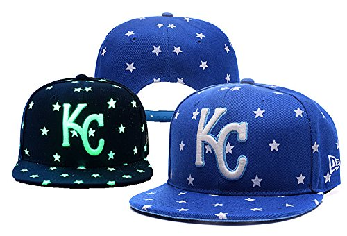 kansas-city-royals-fashion-linesman-team-logo-blue-adjustable-luminous-hat-with-pom