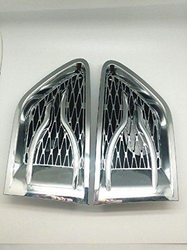 (2) chrom Seitenschlitze Gitter Lufteinlass Cover Hawk für 10-13Range Rover Sport L320