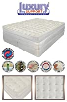 "Big Sale KING 15"" INNOMAX® MEDALLION ADJUSTABLE SLEEP AIR BED SET With Foundation"