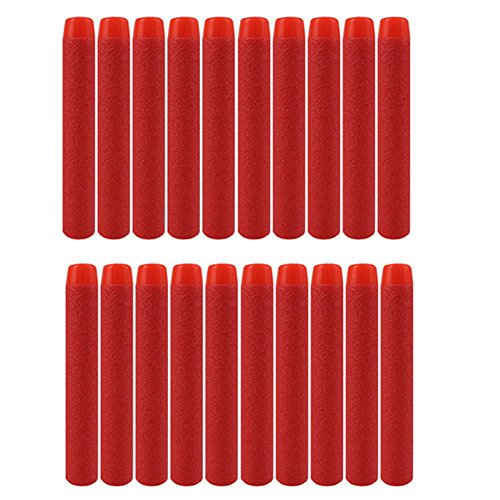Red 100pcs 7.2cm Refill Bullet Darts for Nerf N-strike Elite Series Blasters Toy gun
