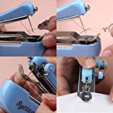 Rurah Mini Travel Portable Cordless Hand-held Clothes Sewing Machine Home Blue