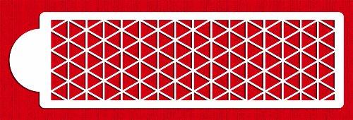 Designer Stencils C754 Triangle Quilt Pattern Cake Stencil, Beige/semi-transparent (Quilt Stencil Patterns compare prices)