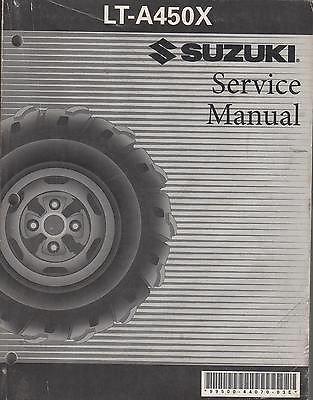 2007 Suzuki Atv 4 Wheeler Lt-A450X Service Manual 99500-44070-03E