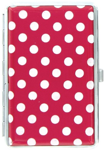 Metro Mini DOTZ POLKA DOT Metropolitan Designer Wallet Hard Case / Credit Card Case (Red)