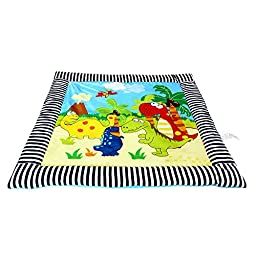 Anself 97 * 97cm Baby Infant Kid Play Mat Thick Soft Play Crawling Mat Padded Carpet Dinosaur Century Pattern