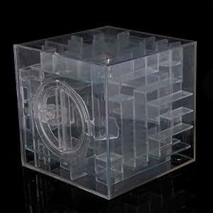 Funny 3D Maze Ball Treasure Box Coin Bank (Translucent)