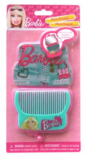 Barbie Compact Mirror and Hair Comb Set - 1