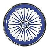 Ashoka Chakra Design Metal Pin Badge
