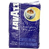 The Lavazza super crema, whole bean, 2.2 pound bag are a premium blend of 80% sweet arabicas and 20% robustas producing a rich, intense flavor with a thick espresso crema that holds up well in cappuccinos and lattes. Super crema can also be used with...