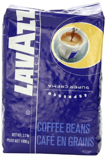 Lavazza Super Crema Espresso Whole Bean Coffee,