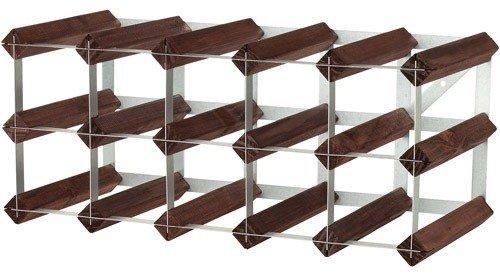 Rta From Samuel Groves Weinregal für 15Flaschen 5x2 Fächer gebeizte Kiefer / verzinkter Stahl