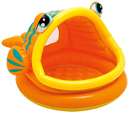 "Intex Lazy Fish Inflatable Baby Pool, 49"" X 43"" X 28"", for"