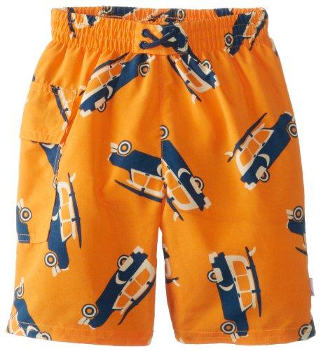Iplay Swim Diaper Trunks,X-Large / 24 Months,Orange Surf Car