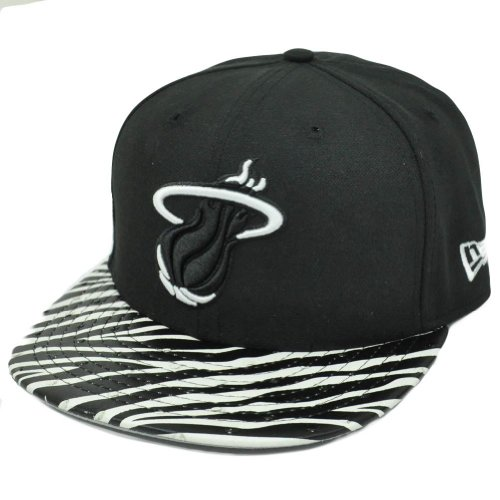 NBA New Era 9Fifty Miami Heat Ostrich Vize Zebra Strapback Flat Brim M/L Hat Cap at Amazon.com