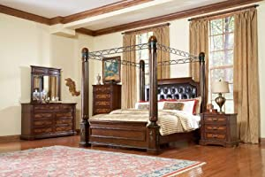 Bermingham Queen Canopy Bed by Homelegance