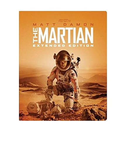 The Martian: Extended Limited Edition Steelbook (2 Disc Blu Ray + Digital HD)