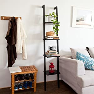 The Best  SoBuy Modern Wood Ladder Shelf