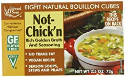 Edward & Sons Not-Chick\'n Bouillon Cubes, 2.5-Ounce Boxes (Pack of 12)