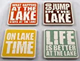 Absorbant Stone Lake Sayings Coasters