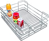 Now & Ever Stainless Steel Kitchen Bottle Basket, 21x20x6 inches, Silver, 1-piece