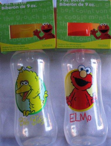 Sesame Street 2-Pack Baby Bottles (9 Oz.) Elmo & Big Bird front-953079