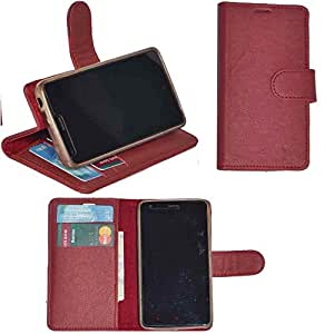 R&A Pu Leather Wallet Flip Case Cover With Card & ID Slots & Magnetic Closure For Sony Xperia Neo L