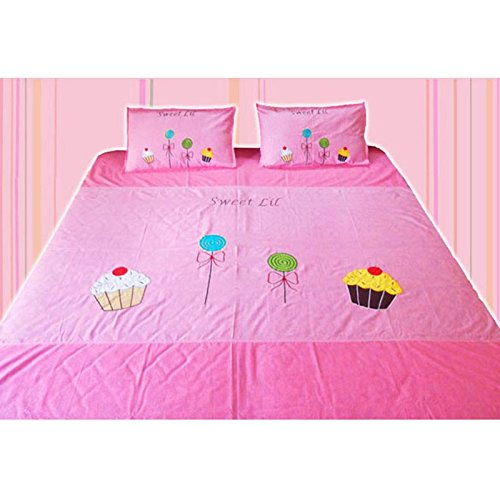 Blooming Buds Blooming Buds Cup Cake Double Bedsheet