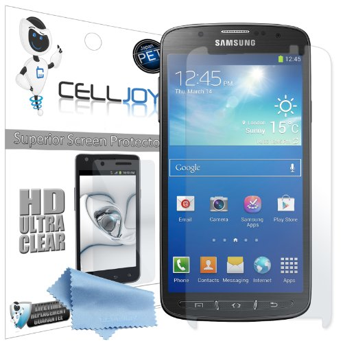 """Celljoy Samsung Galaxy S4 Active (Fits """"Active"""" Model Only) Premium High Definition (Hd) Ultra Clear (Invisible) Screen Protectors With Lifetime Replacement Warranty [5-Pack] - Retail Packaging"""