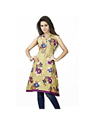 Mutli Color Cotton Printed Kurti - B00ZUAXQLK