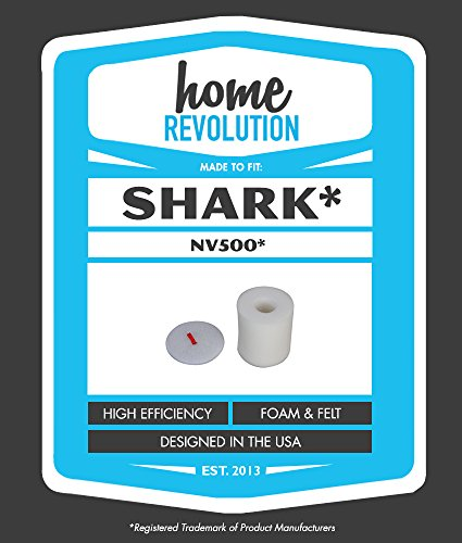 Cheap 1 Shark® NV500 Home Revolution Brand Washable and Reusable 1 Foam and 1 Felt Filter; Replacem...