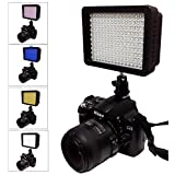 NEW 160 LED 160 Dimmable Ultra High Power Panel Digital Camera / Camcorder Video Light, LED Light for Canon, Nikon, Pentax, Panasonic,SONY, Samsung and Olympus Digital SLR Cameras JGG2161 (160 LED Camera Light)