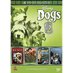 Disney 4-Movie Collection: Dogs 2 (Journey Natty Gan /Rascal / Benji  the Hunted / Where the Red Fern Grows)