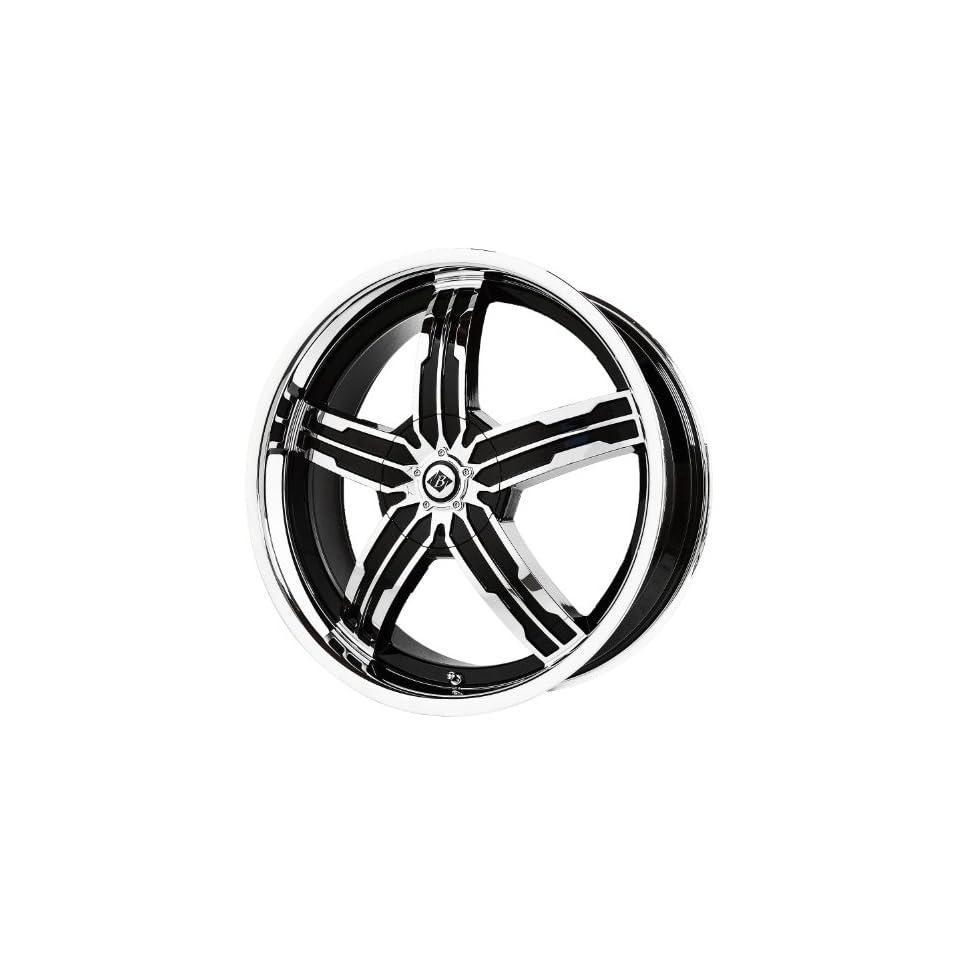 Black Ice Alloys Sigma Black/Chrome Wheel with Spokes and Lip (20x7.5/5x4.5)