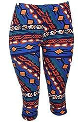 Colorful Native American Print Capri Leggings - One Size