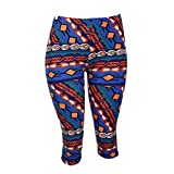 Colorful Native American Print Capri Leggings - One Size