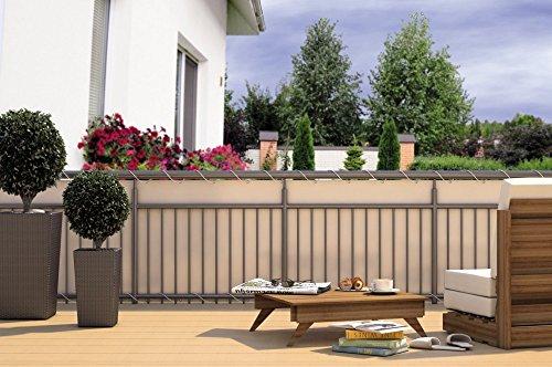 balkon sichtschutz balkon verkleidung balkonumspannung balkon windschutz creme beige 24 m kordel. Black Bedroom Furniture Sets. Home Design Ideas