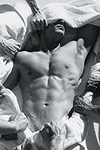"""Almost Nude, Sexy Muscular Man. Black & White Photography. Art Poster Print. 22"""" x 28"""""""