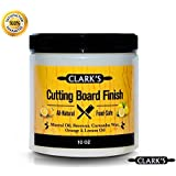 CLARK'S Cutting Board Finish (10oz) | Butcher Block Wax & Finish | Natural Beeswax
