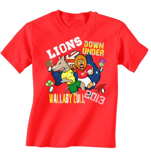 British Lions Childrens rugby T-shirt Australia tour 2013