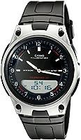 Casio Men's Databank Sports AW80-1AV Black Resin Quartz Watch with Black Dial