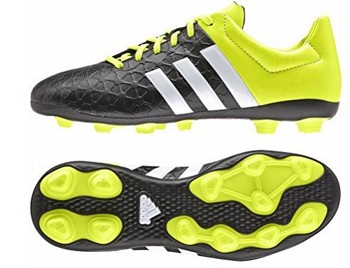 adidasAce15.4 FxG - Calcio scarpe da allenamento Unisex - bambino , Giallo (Gelb (Core Black/Ftwr White/Solar Yellow)), 37 1/3