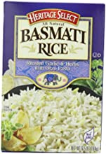 Heritage Select Basmati Rice Roasted Garlic amp Herbs with Orzo Pasta 65 Ounce Pack of 6