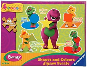 Ravensburger puzzle barney shapes and colours wooden puzzle amazon co